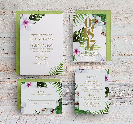 tropical wedding invitations hawaii wedding invitations future mrs