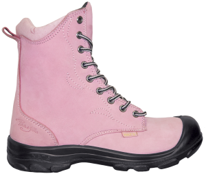 2df3e7fe1e0 8-Inch Laced Work Boot with Zipper with Steel Toe, Pink   Our ...