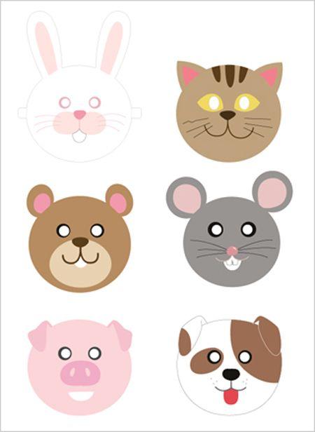 Máscaras De Animais Para Imprimir Aniversário Printable Animal
