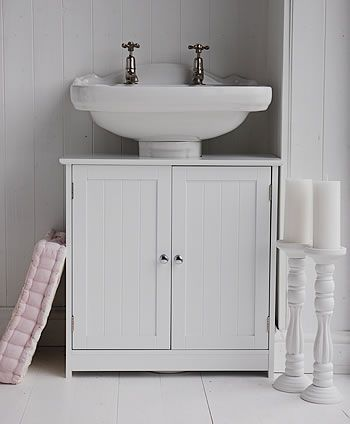 Undersink Bathroom Cabinet White Bathroom Storage