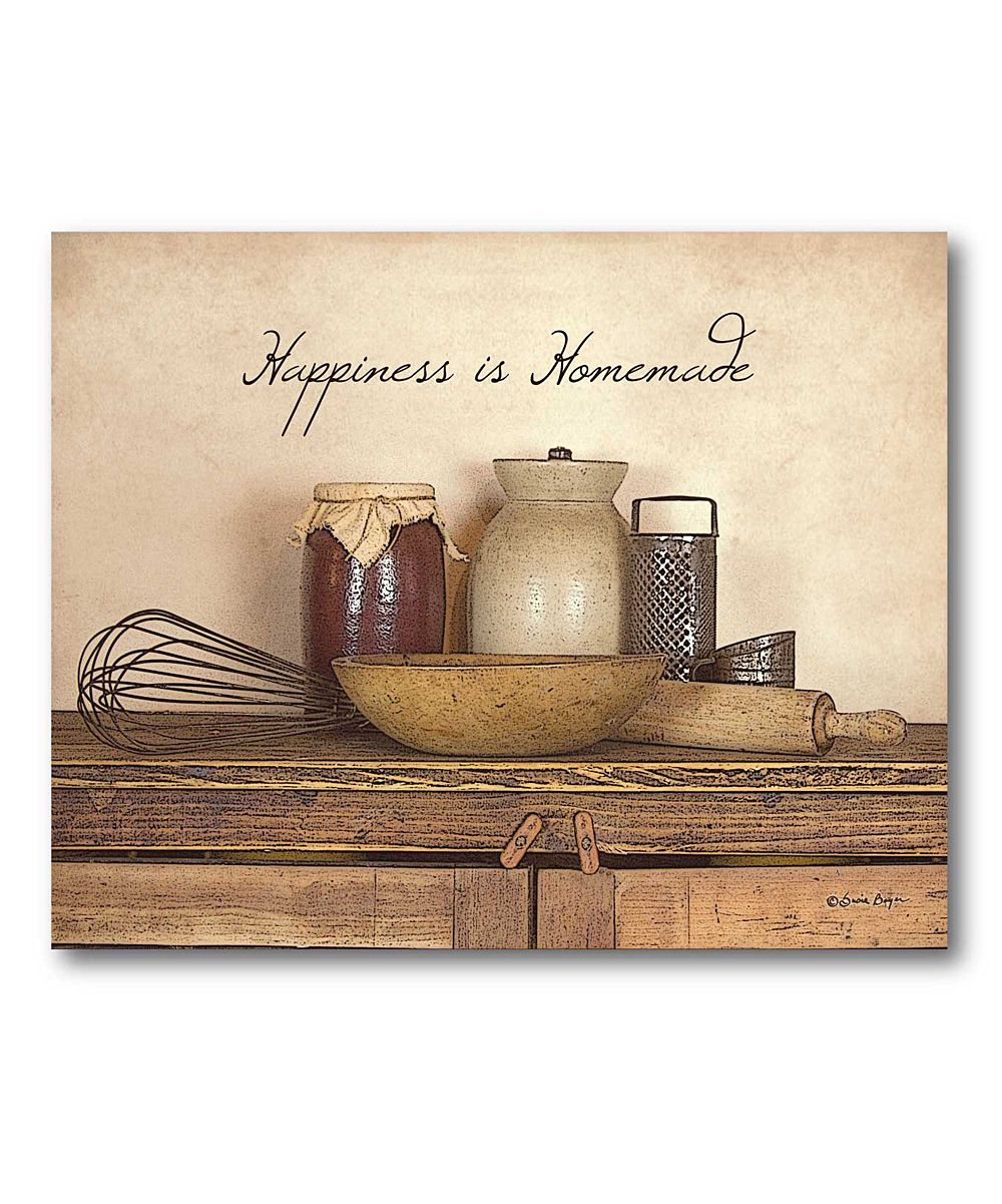 Country Kitchen Wall Decor: 'Happiness Is Homemade' Canvas Wall Art