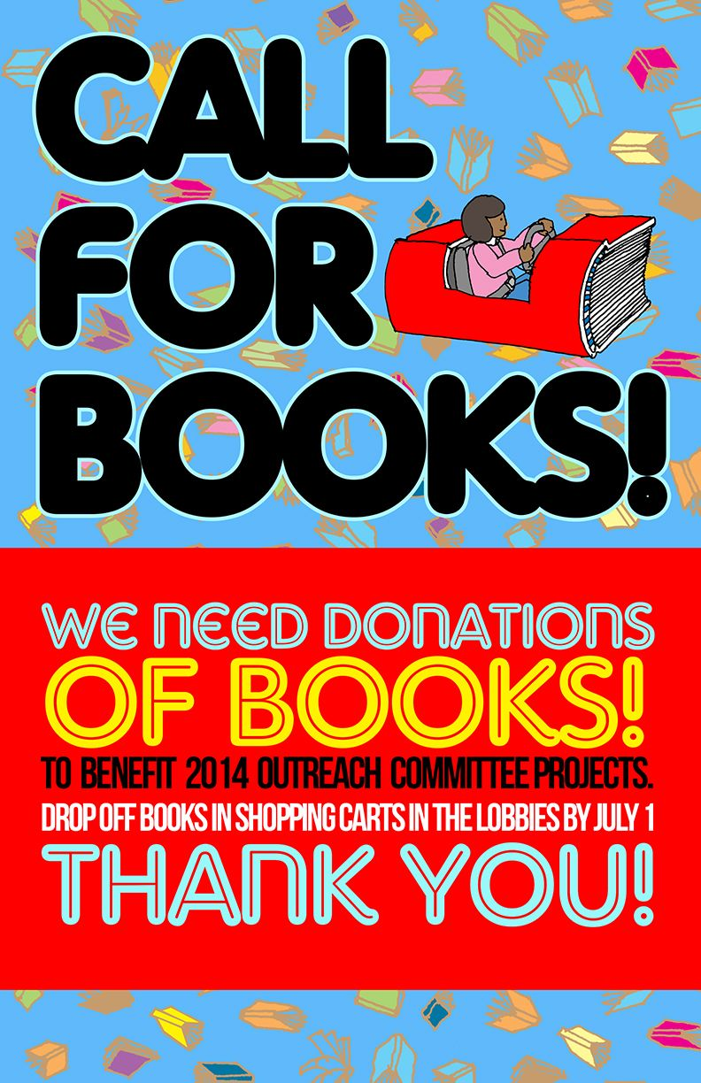 Poster Announcing Request For Book Donations