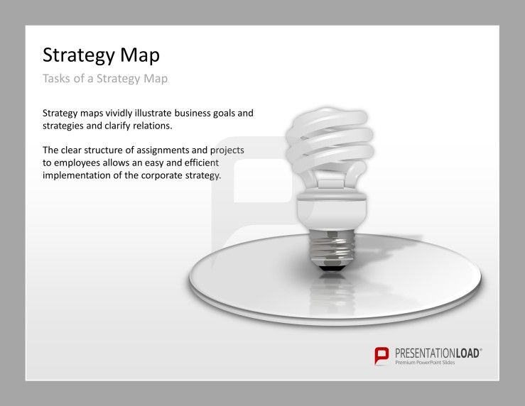 strategy map powerpoint templates tasks of a strategy map, Modern powerpoint