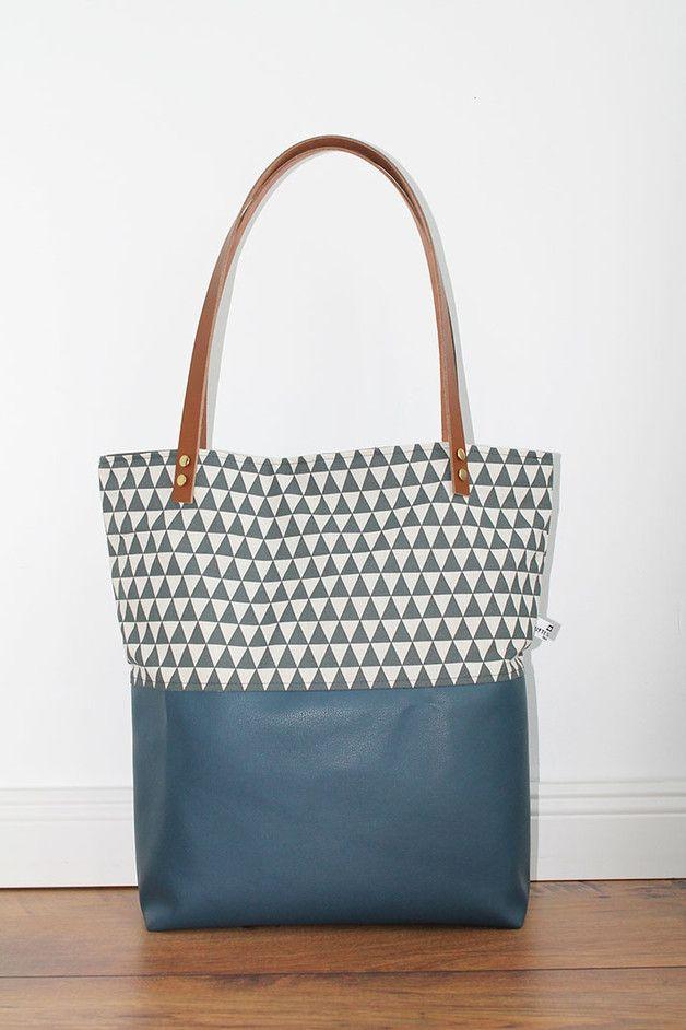 Canvas Tasche, Shopper, Schultertasche TRIANGEL | Pinterest | Nähen ...