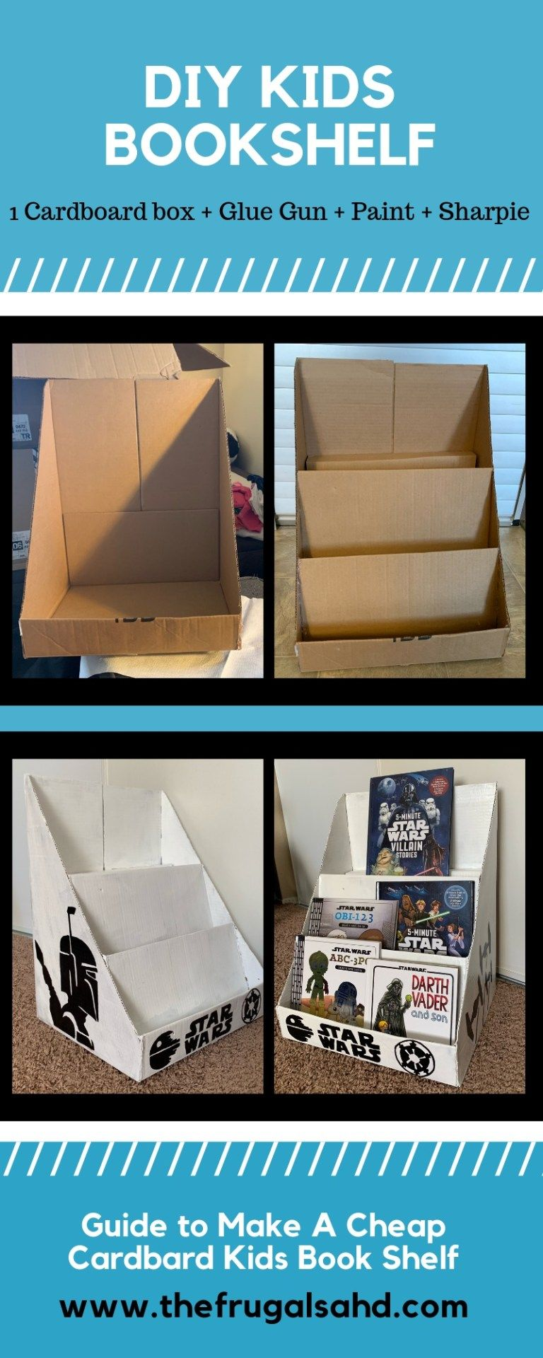 Photo of DIY Star Wars Kids Bookshelf   The Frugal SAHD