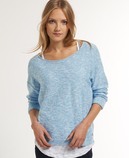 Shop Superdry Womens Icarus Knit in Dolly Blue Marl. Buy now with free  delivery from the Official Superdry Store.