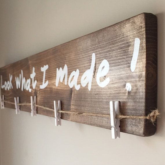 Show off your childrens artwork with this rustic kids art display show off your childrens artwork with this rustic kids art display wood sign use solutioingenieria Choice Image