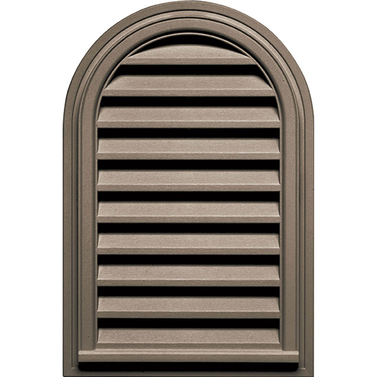 22 Inch W X 32 Inch H Cathedral Gable Vent Louver 70 Sq Inch Vent Area Gable Vents Builders Edge Top Round