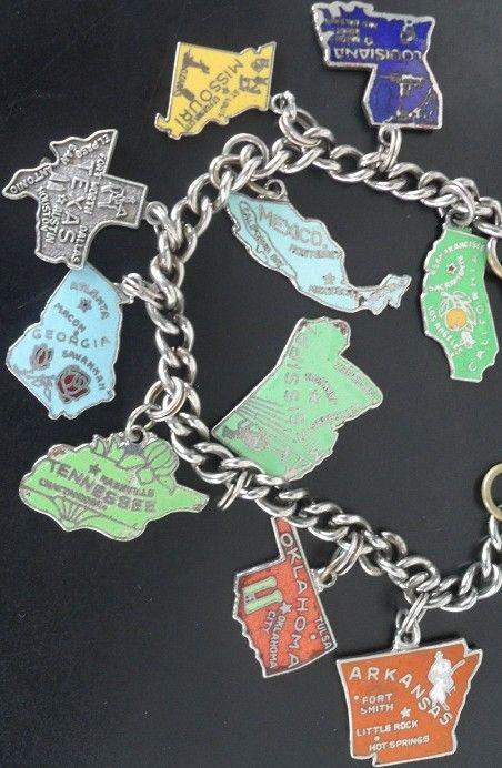 California Bracelet California Charme CALIFORNIA MAP California State Bracelet