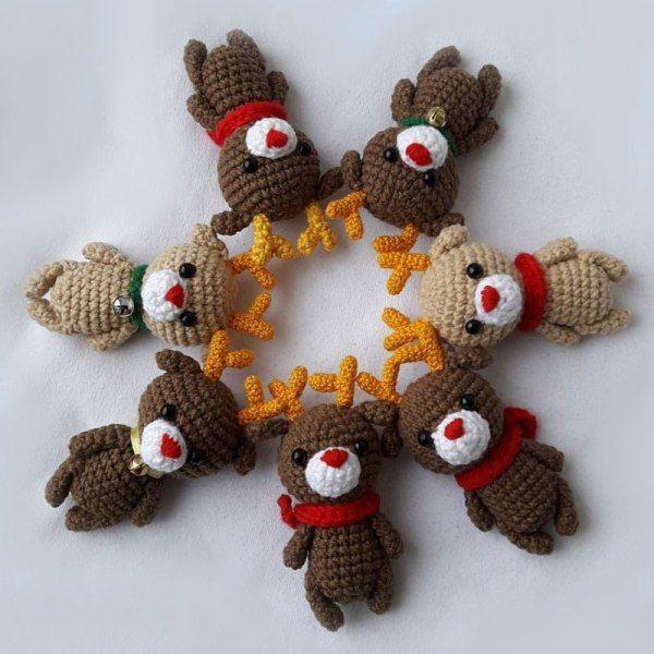 Easy Christmas Amigurumi : Crochet reindeer amigurumi pattern free