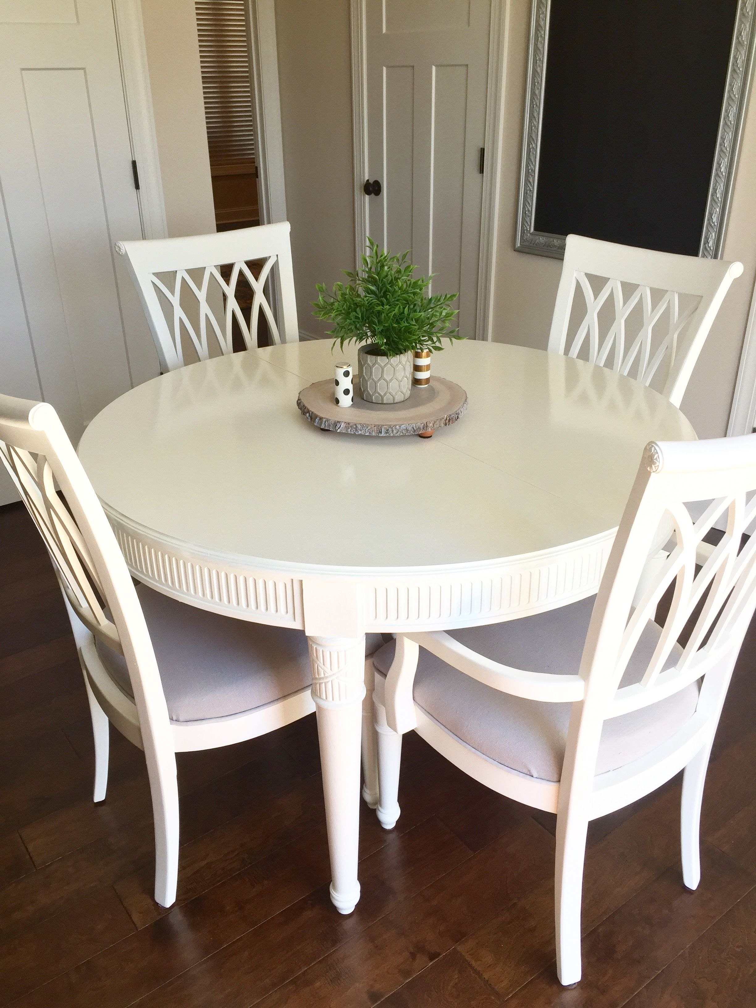 Enjoyable Repurposed Dining Table Painted Oak Table With Valspar White Beutiful Home Inspiration Xortanetmahrainfo