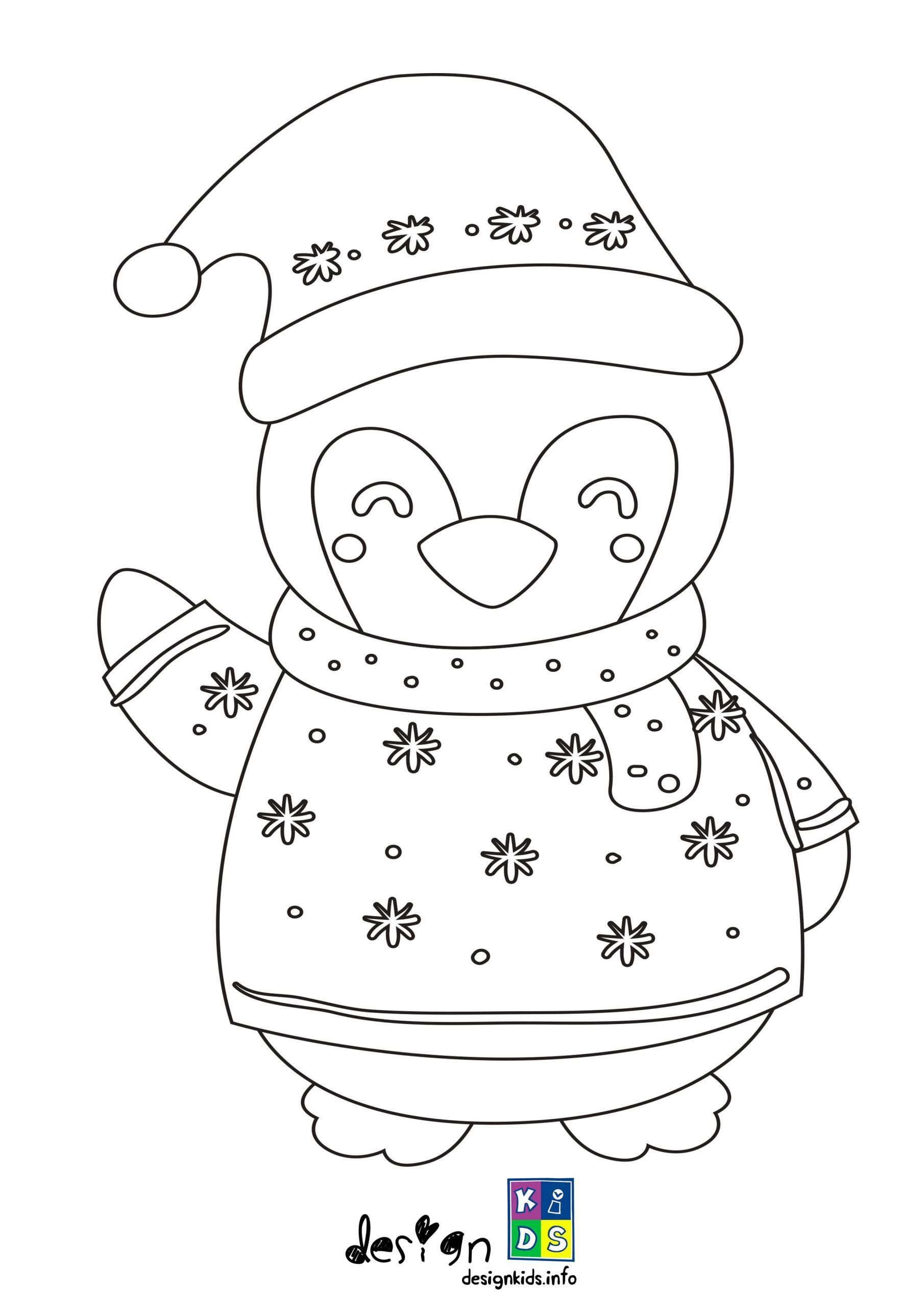 Cute Penguin Special Christmas Coloring Page Make Your World More Colorful With Free Prin Free Printable Coloring Pages Free Printable Coloring Coloring Pages