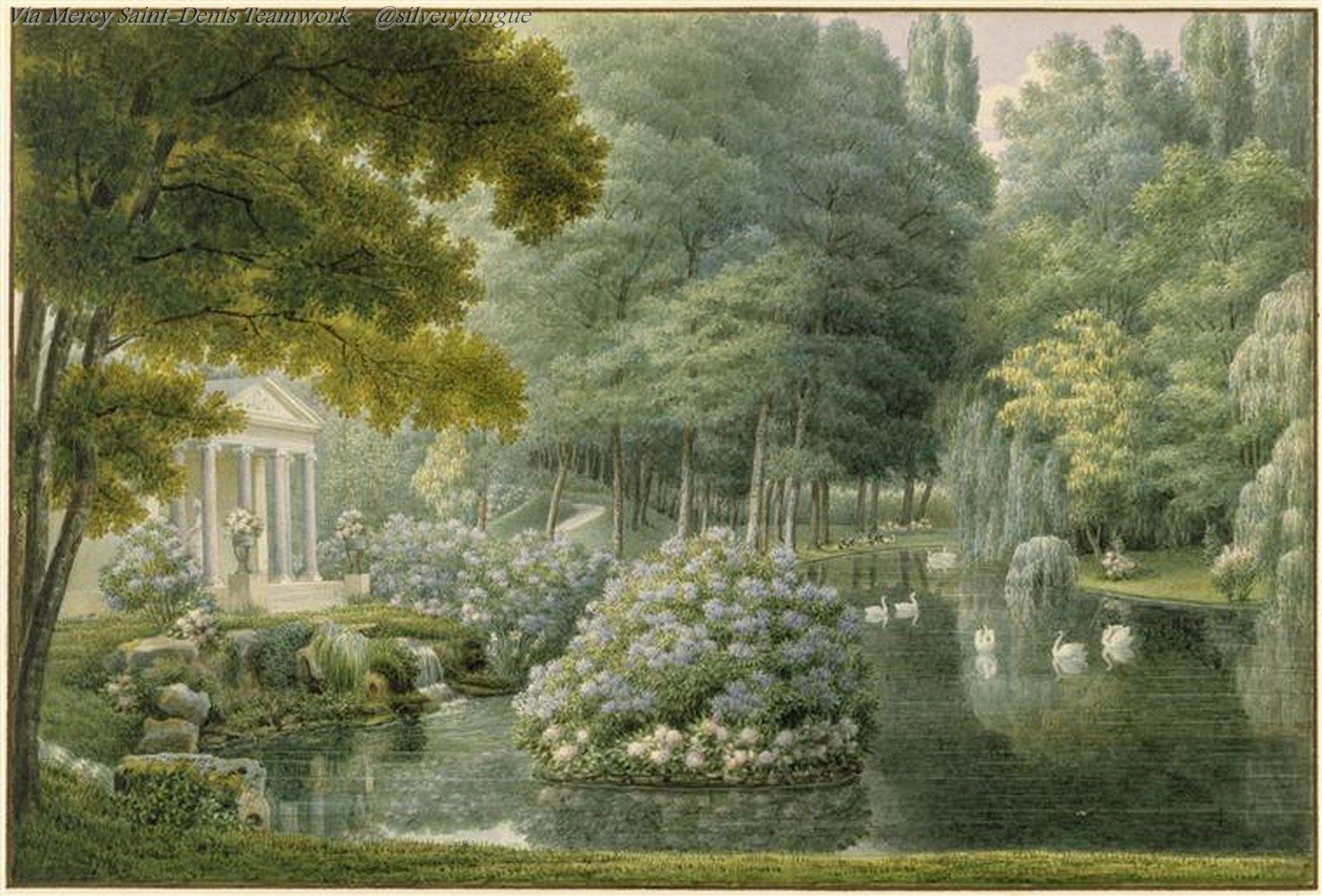 Il tempio dell'Amore nel parco del Castello della Malmaison, Garneray Auguste.
