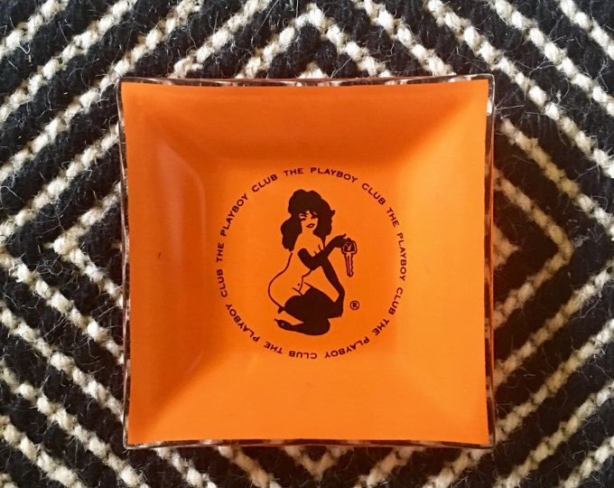 Vintage Playboy Club Ashtray Ash Tray Bunny Gift For The Collector Man Cave Decor Smoking Pin Up