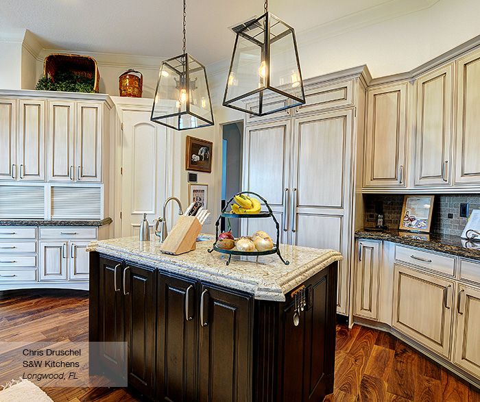 Danville kitchen cabinets in maple pearl with island in ...