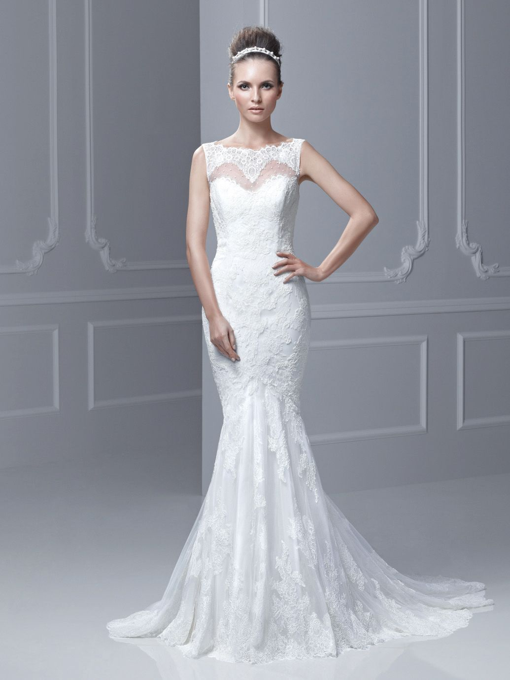 Blue by Enzoani at CC\'s Boutique Tampa http://www.tampabridalshops ...