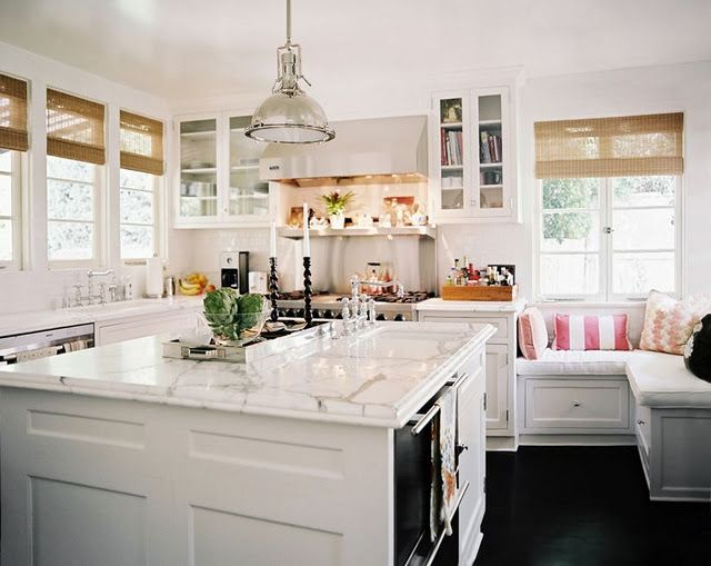 love the cozy little nook right in the kitchen!
