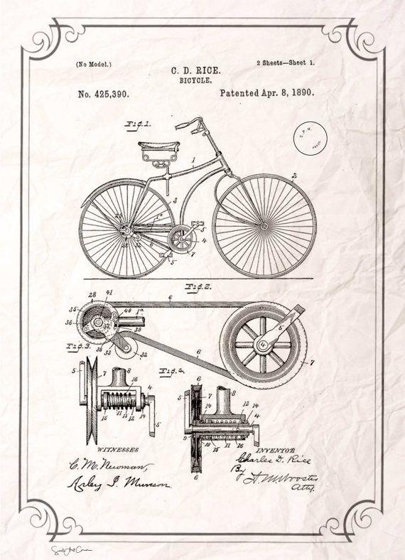 Bike patent vintage neo retro travelancient por soulartcorner bike patent vintage neo retro travelancient por soulartcorner malvernweather Images