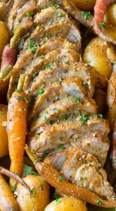 crock pot pork loin and vegetables