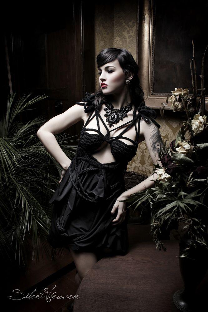 Dress: ROHMY /// Photo: Silent View /// Model: Mrs. Gravedigger /// via allaboutrohmy.com
