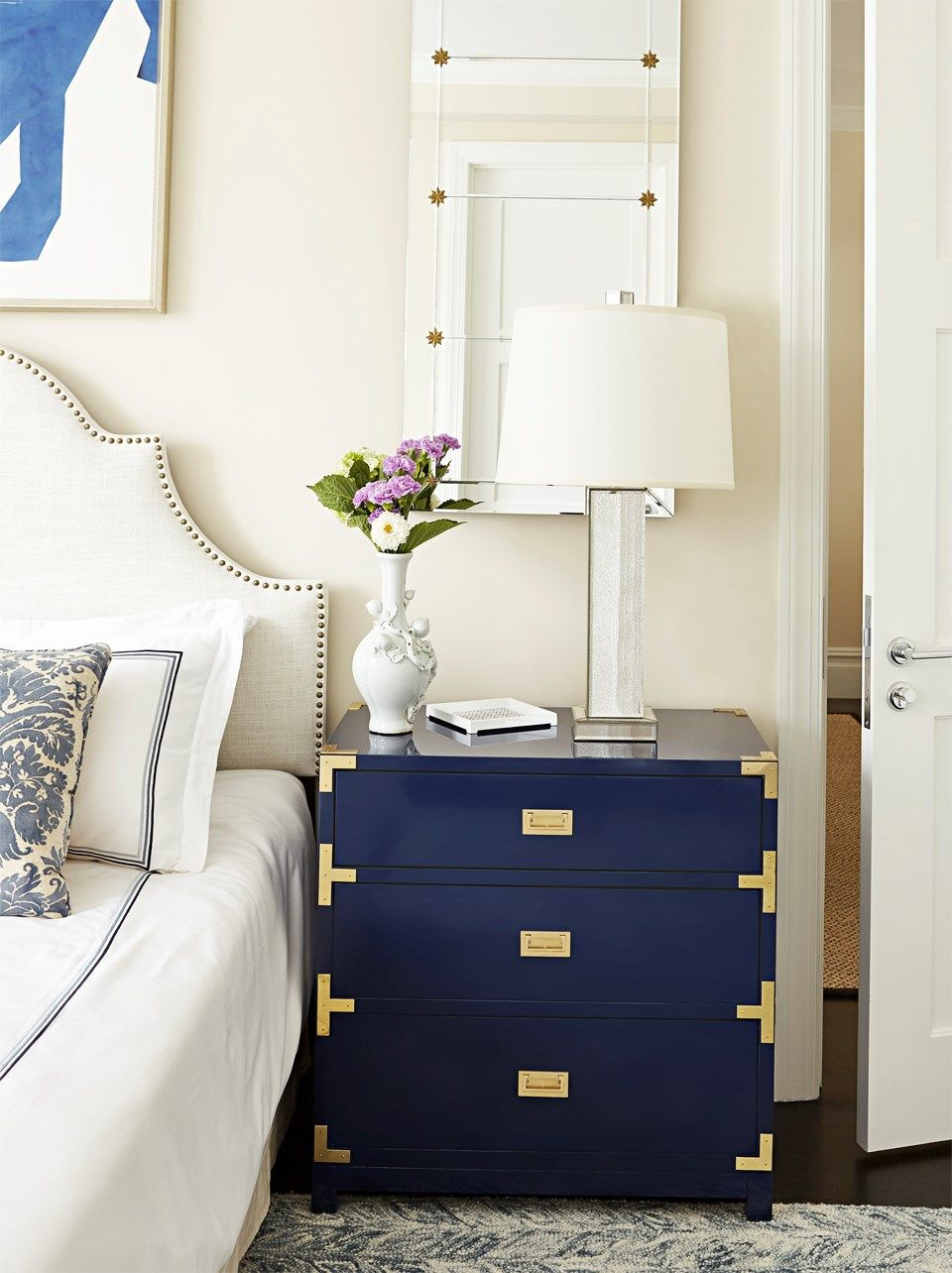 Victoria 3-Drawer Side Table, Navy Blue - Bungalow 5 | Master ...