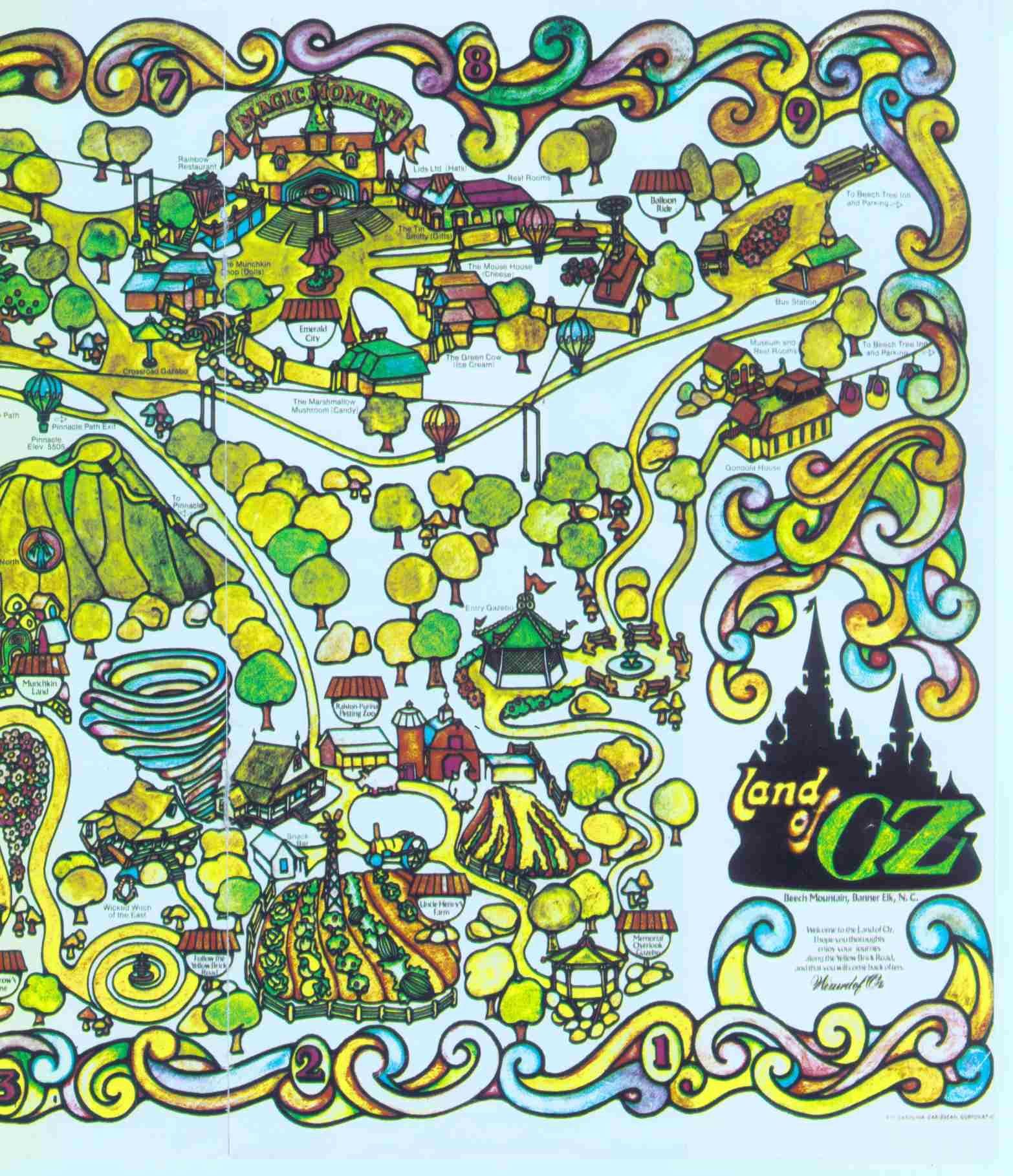 Beech Mtn Land Of Oz Map - 60s, 70s?