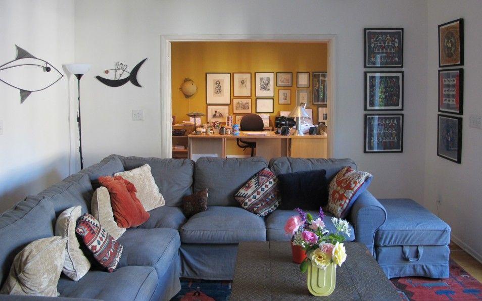 home office in living room gallerist at home deborah gribbon u