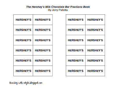 Fractions Freebie!  Use with the Hershey Bar fraction book
