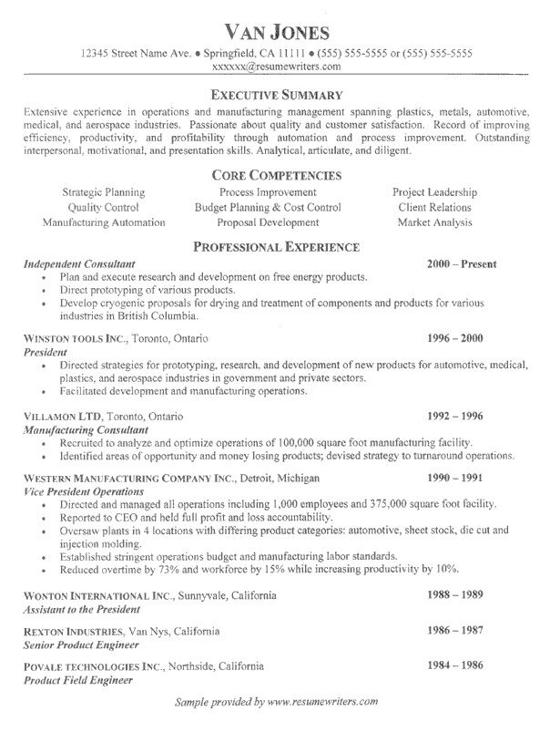 Management Consulting Resume Format - http\/\/topresumeinfo - resume core competencies examples