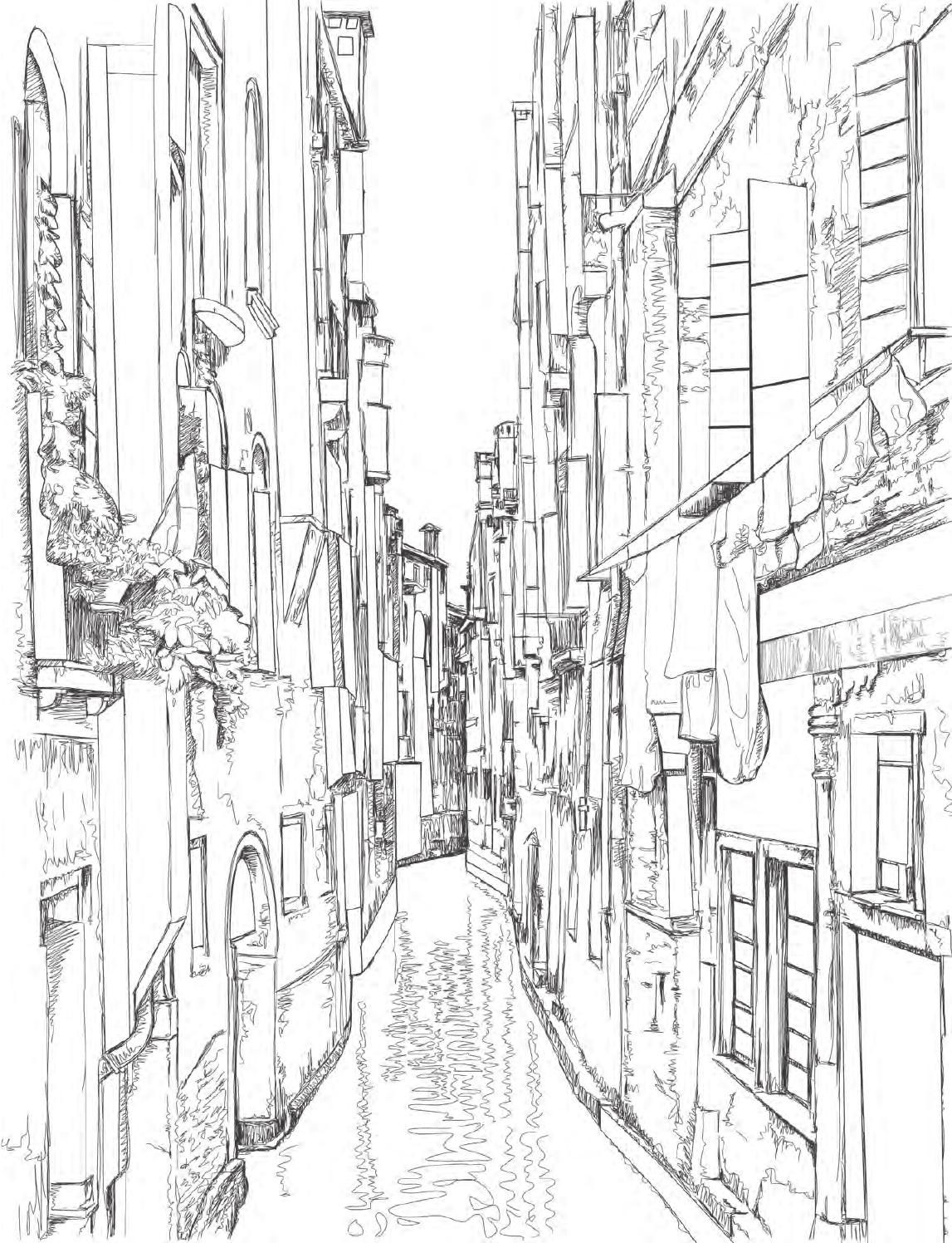 51 Venice Coloring Book For Adults Picture HD