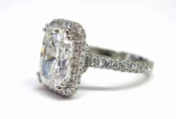 Gorgeous 2.5ct Radiant Cut Lab Diamond by RockCandyCollection1