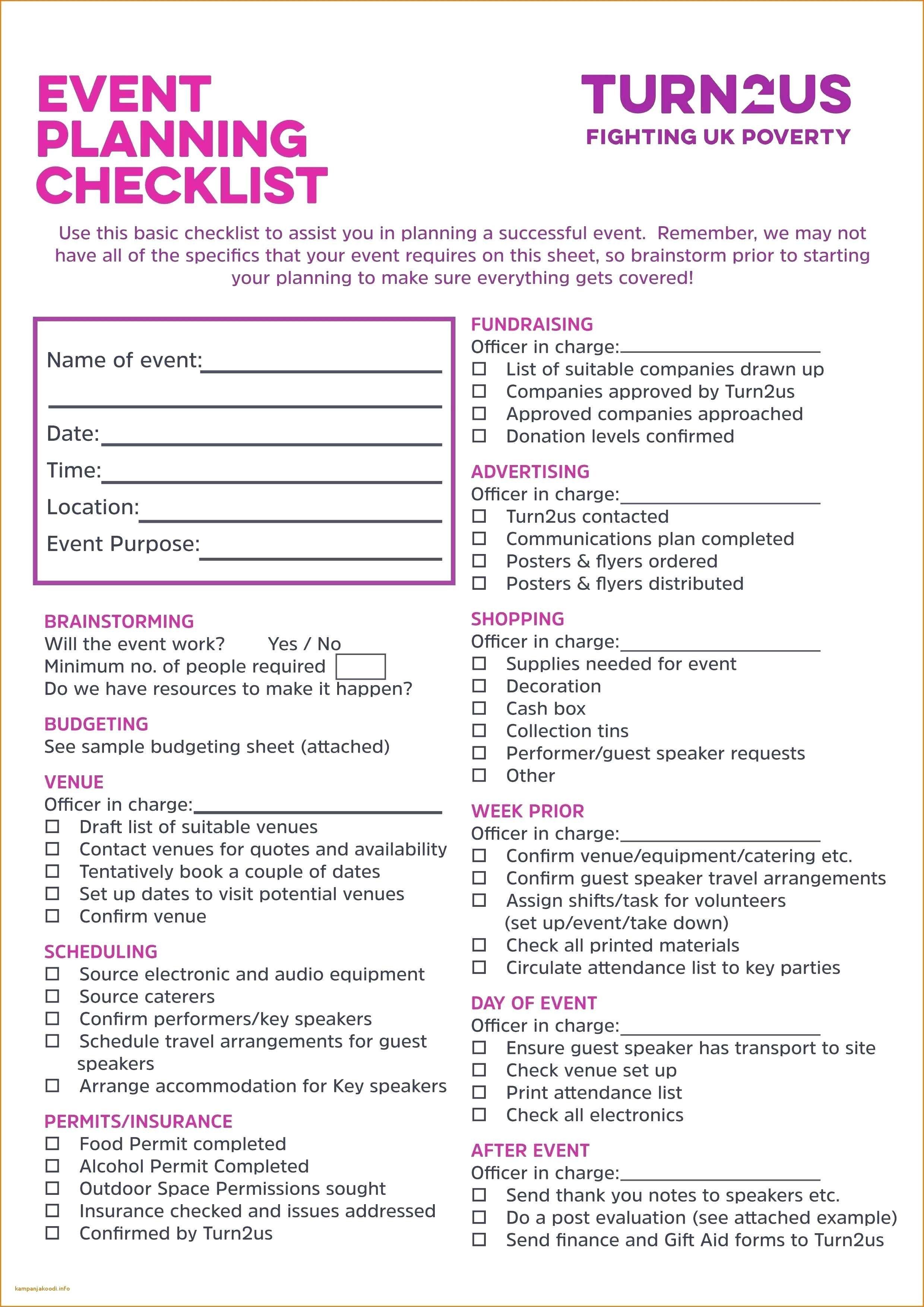 Baby Shower Planner App event Planning Checklist Template