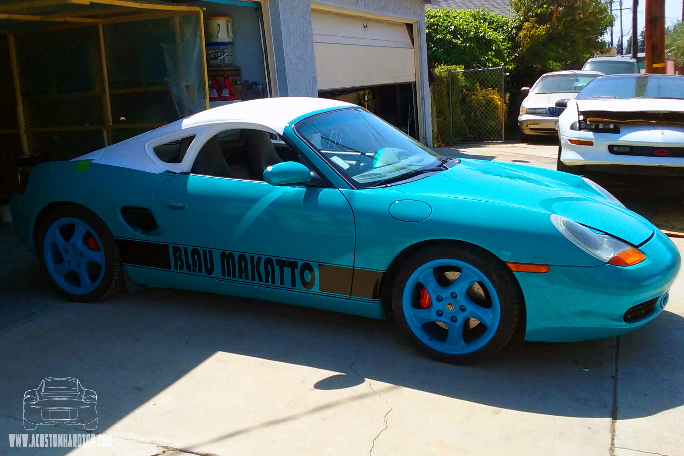 Awesome Teal Porsche Boxster Hardtop Build Hardtop Installed But