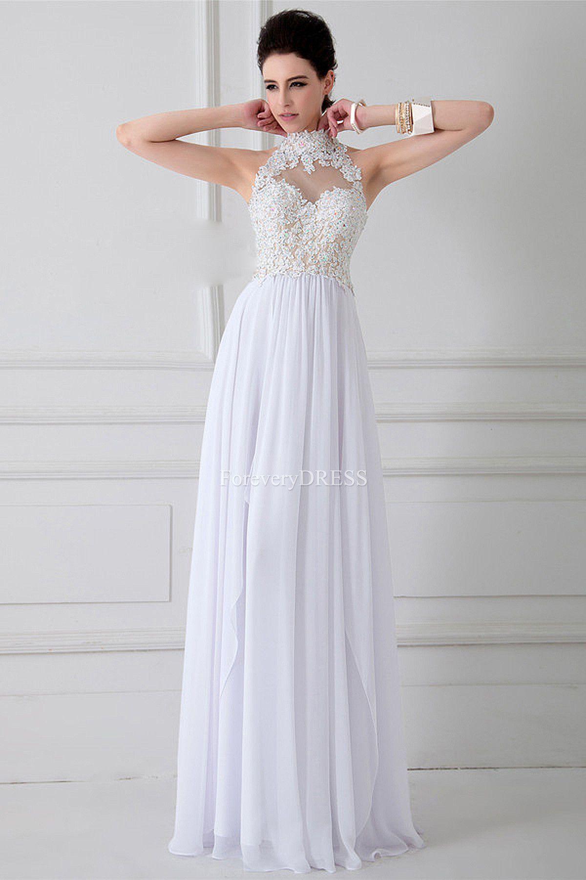 Imagenes de vestidos de noche blancos
