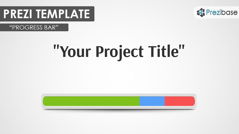 Prezi Template with a progress bar concept – show how far is your ...