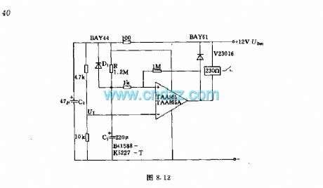 Delay circuit with operational amplifier  After plug-in
