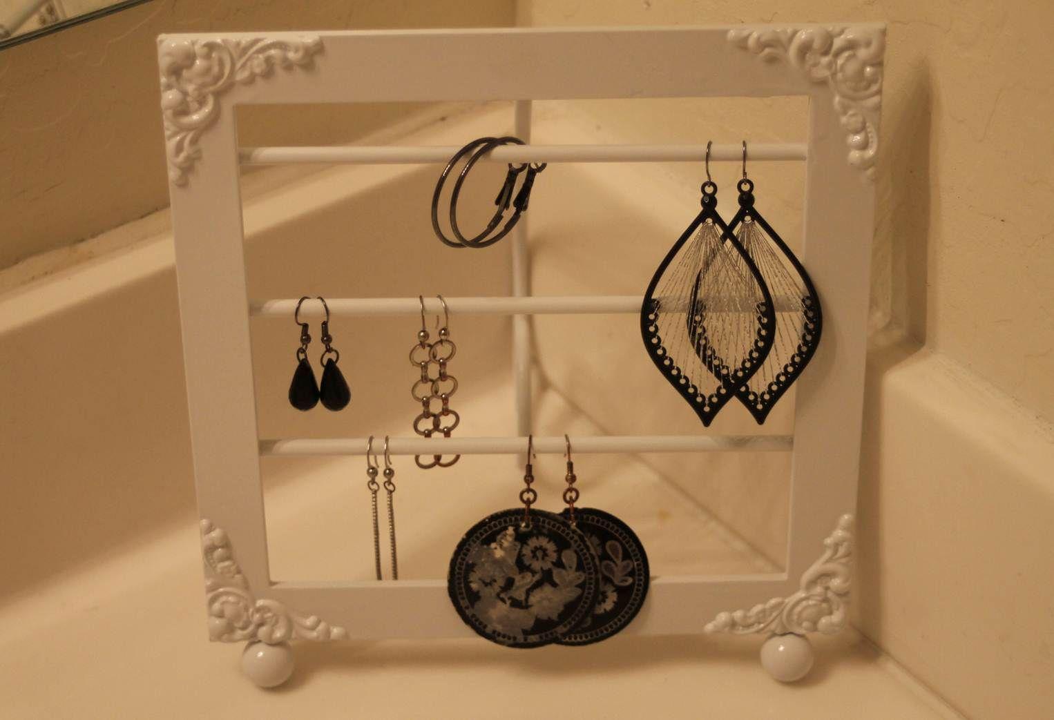 Earring Holder Display Ideas Pinterest Hanger And Craft
