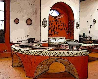 Cocina poblana comidas cocinas y mesas mexicanas pinterest mexicans haciendas and - Cocinas estilo colonial ...