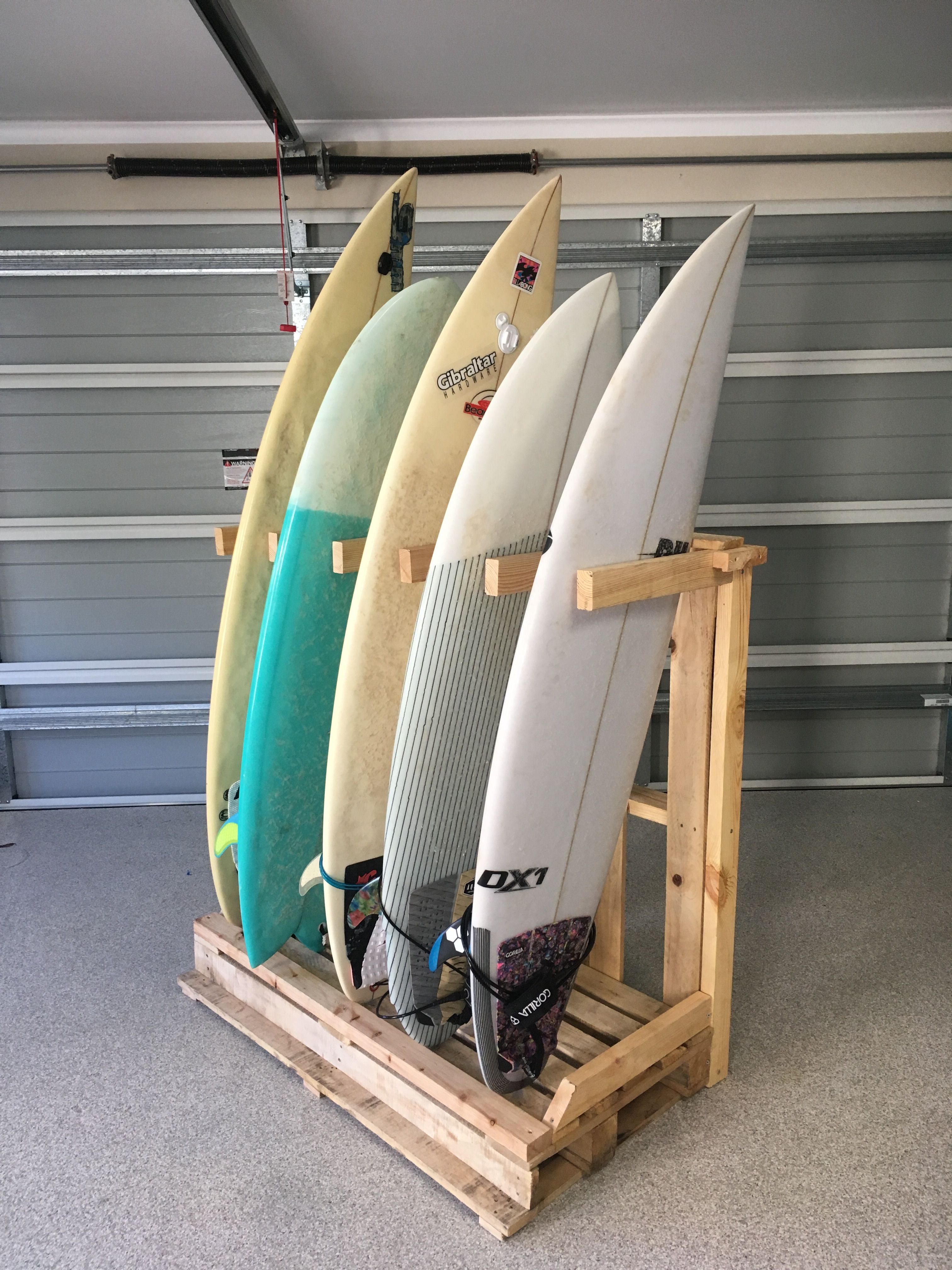 Freestanding surfboard rack | Surf Boards | Pinterest