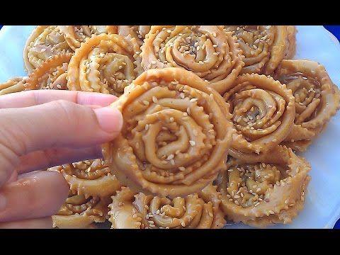حلويات رمضان طريقة تحضير شباكية الوردة بشكل راقي هشيشة وتدوب في الفم Youtube Moroccan Cookies Food Pastry
