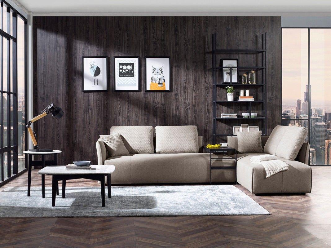 Best Divani Casa Polson Modern Modular Light Grey Fabric 400 x 300