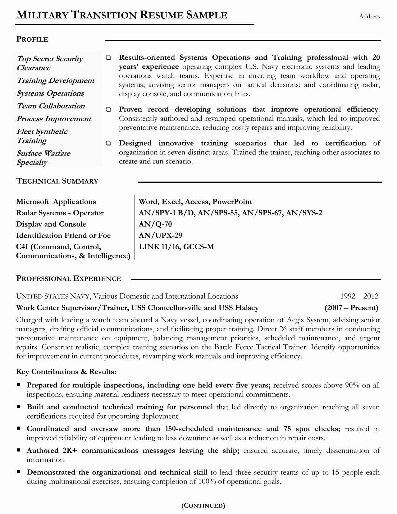 Free resume templates for veterans with images resume