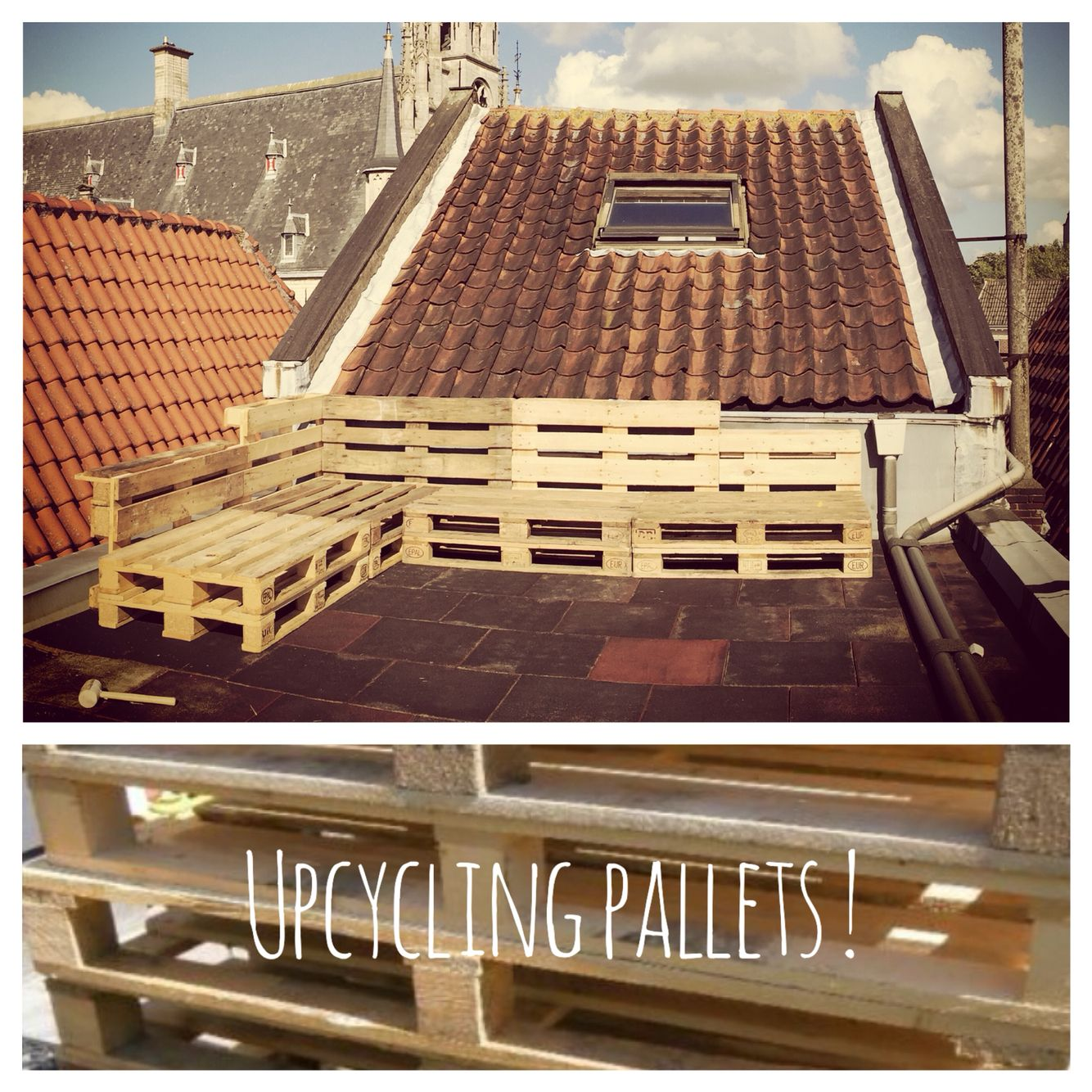 Good Step Two: Upcycling These Used Pallets Into An Easy To Make And Cheap  Lounge!