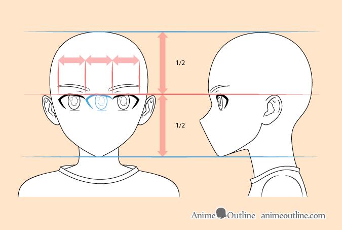 8 Step Anime Boy S Head Face Drawing Tutorial Animeoutline Drawing Tutorial Face Anime Boy Face Drawing