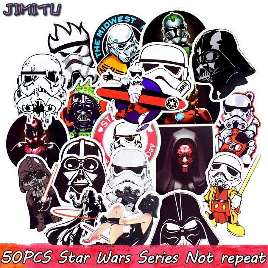 50pcs STAR WARS DARK VADOR STICKERS Autocollant Skateboard Bagages Ordinateur Portable Voiture vinyls