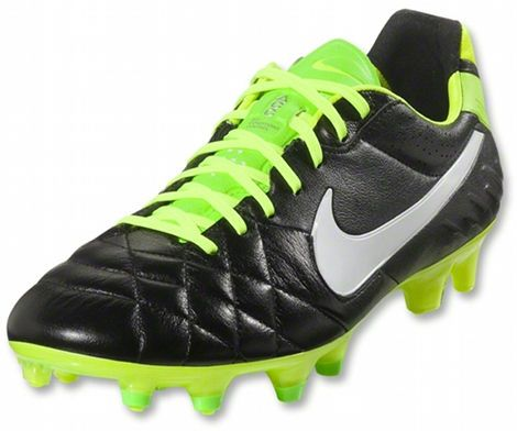 outlet store f7368 4ed10 NIKE TIEMPO LEGEND IV - BLACK / WHITE / ELECTRIC GREEN ...
