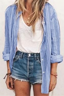 Photo of CielChic Striped Loose Shirt(5 Colors)