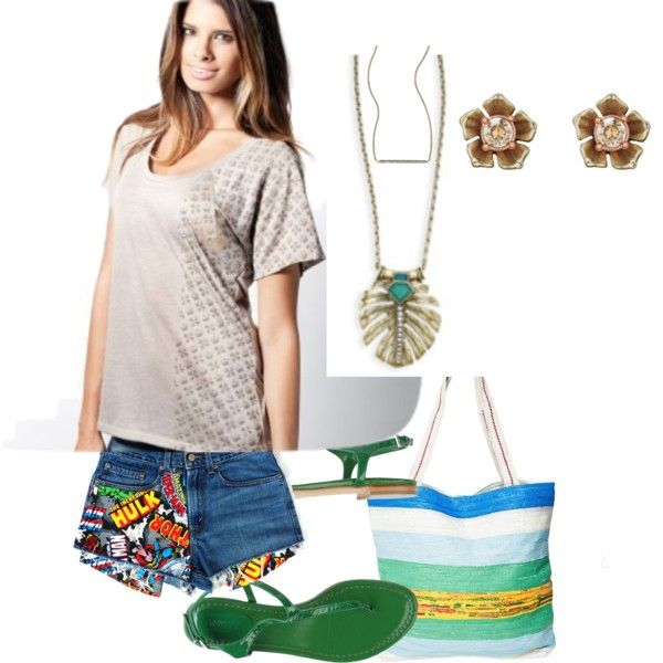 accessorize your most casual summer look by juliemeyerspron on Polyvore featuring Anna F.,  Lucky Brand and Jewelryverse