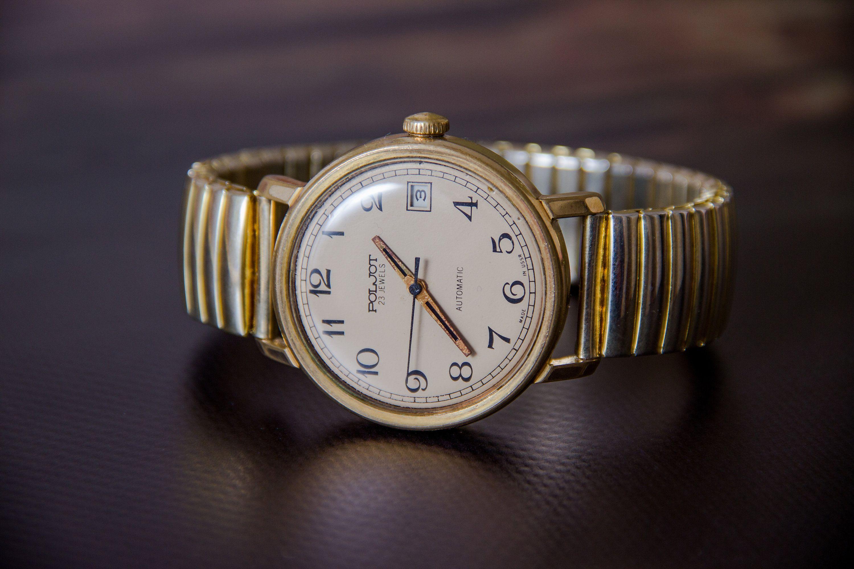 Wristwatch Old Watch Poljot Watch Gift For Him Soviet Mens