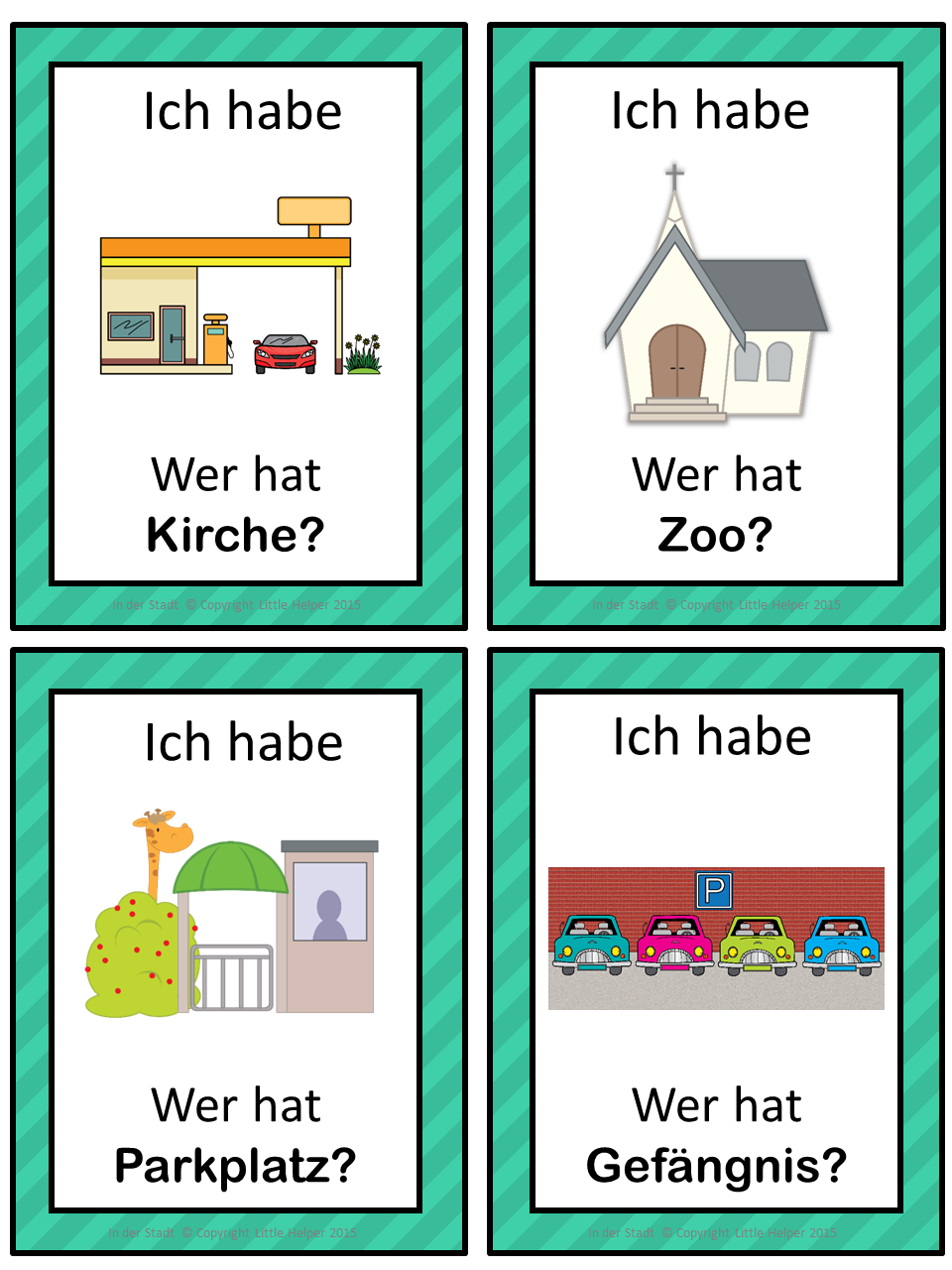 German In Town Ich Habe Wer Hat Game German Language Learning Learn German German Language